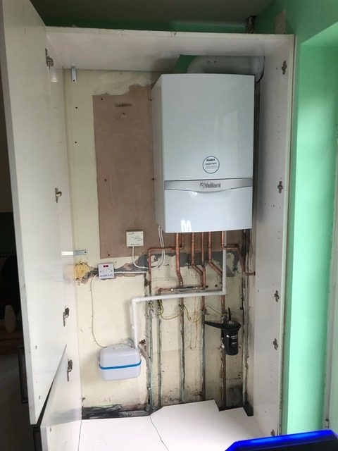 after - installed a new Vaillant 838 combination boiler