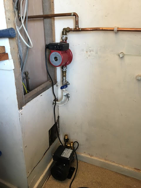 during - New Boiler Installation in Bow