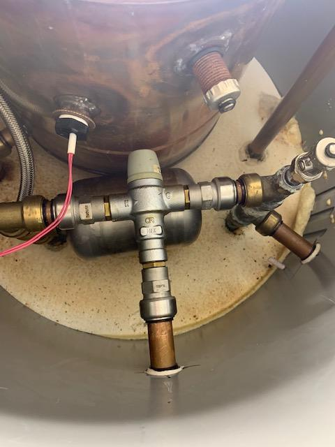 during - Replaced Thermal Store Unit Temperature Valve in Bow