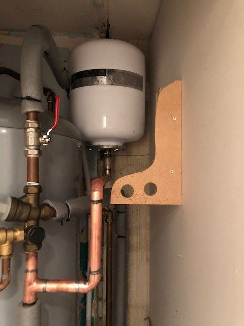 before - ERV Replacement and Pipe Work