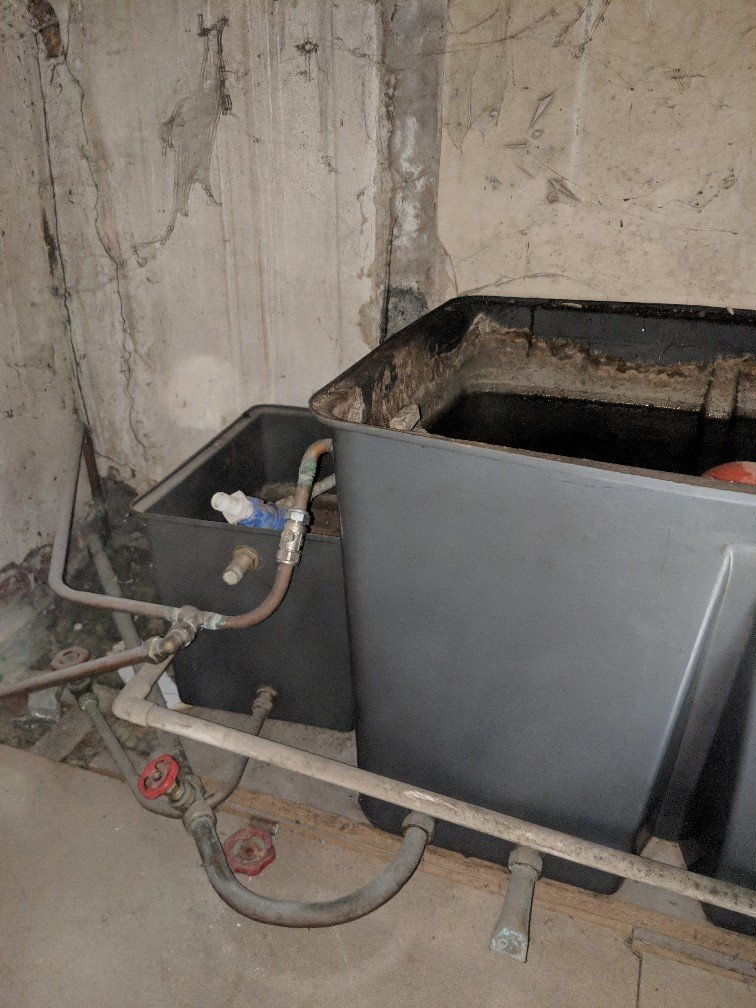 before - Loft Water Tank Removal