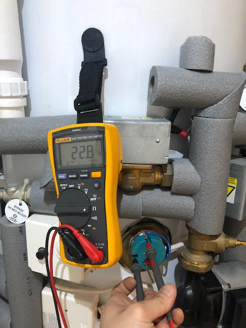 during - Annual Unvented Hot Water Service