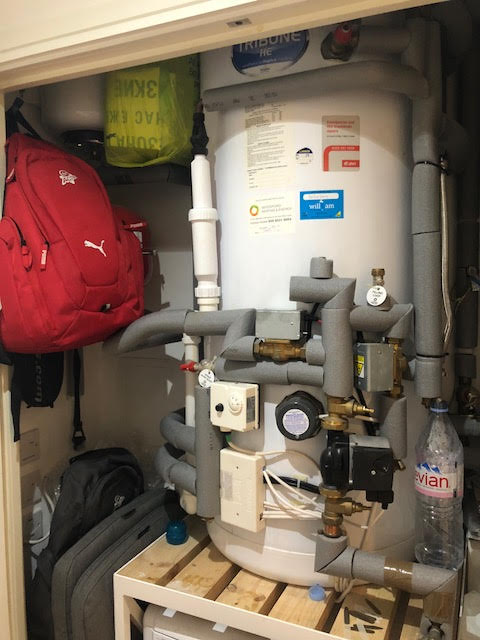 before - Annual Unvented Hot Water Service