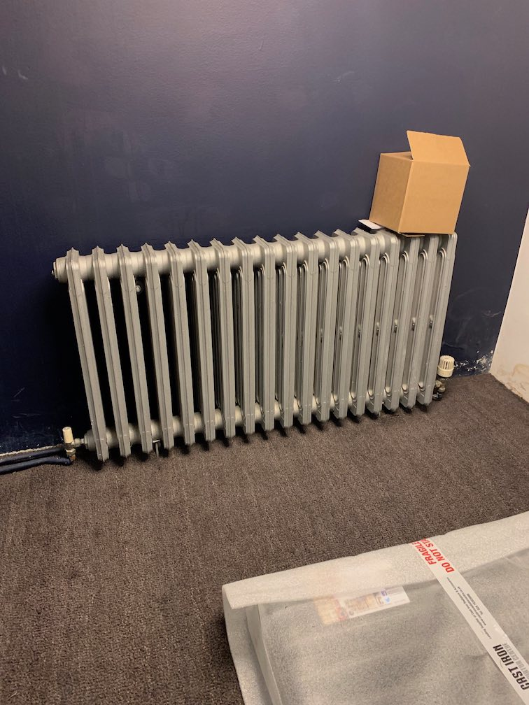 before - Replaced Radiator in Islington