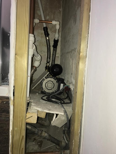 during - Faulty Shower Pump Diagnosis and Replacement in Bethnal Green
